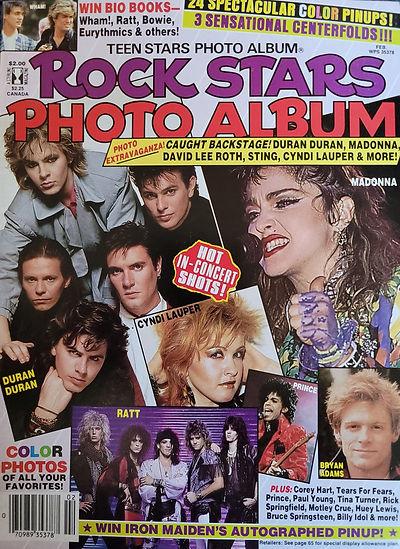 Rock stars Photo Album Feb 1986 America.