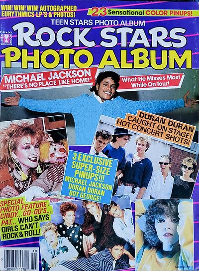 Rock Stars Photo Album Oct 1984 America.