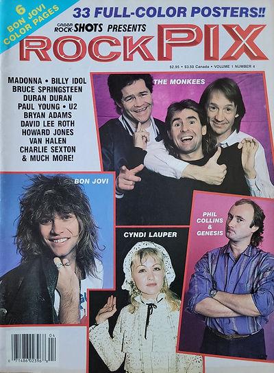 Creem Rock Shots Rock Pix Jan 1987 Ameri