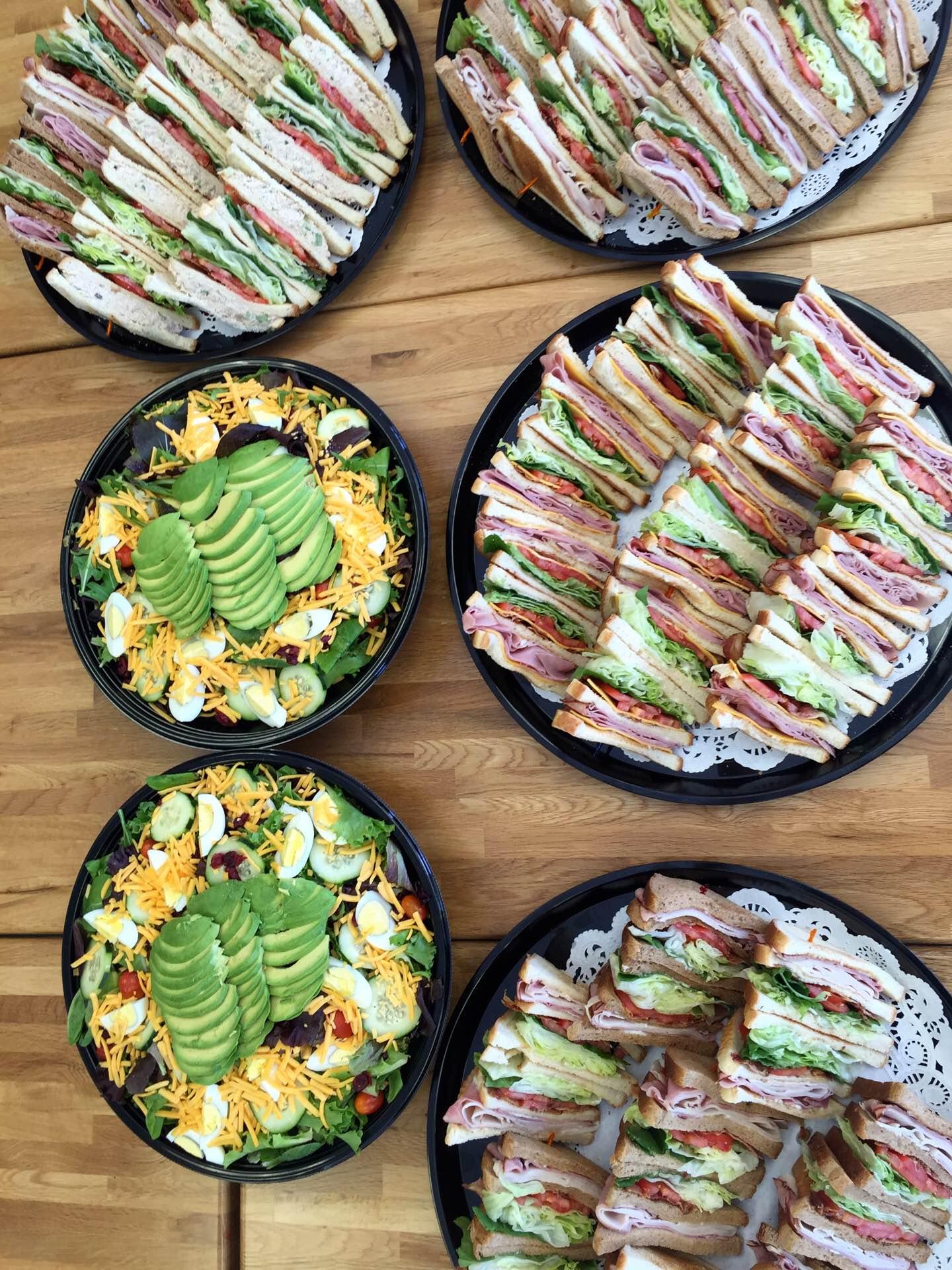 Club platters and Cobb Salad