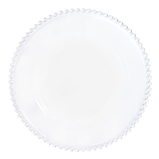 Clear Beaded Charger Plate Wedding Event Hire Brisbane Gold Coast