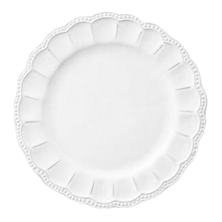 Floral White Charger Plate Wedding Event Hire Brisbane Gold Coast