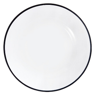 Black Rim Glass Charger Plate Wedding Event Hire Brisbane Gold Coast