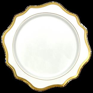 Elegant White Gold Charger Plate Wedding Event Hire Brisbane Gold Coast