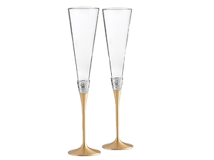 Vera Wang With Love Gold Flute Pair Wedding Event Hire Brisbane Gold Coast