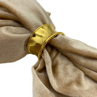 Band Gold Napkin Ring Wedding Event Hire Brisbane Gold Coast