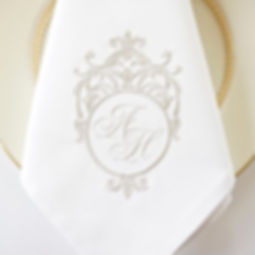 Personalised Linen wedding napkins brisb