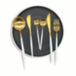 Cutipol white gold cutlery hire brisbane