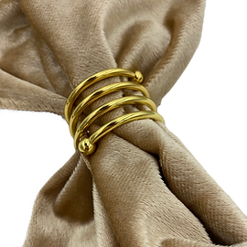 Twist Gold Napkin Ring Wedding Event Hire Brisbane Gold Coast
