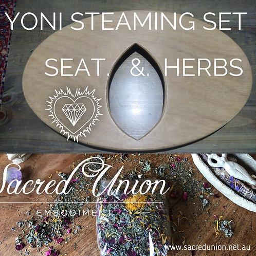 Yoni Steaming Set - Seat plus Herbs 50g  $141 + $20 Postage