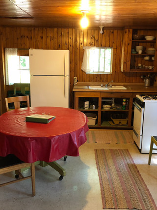 Beech kitchen area