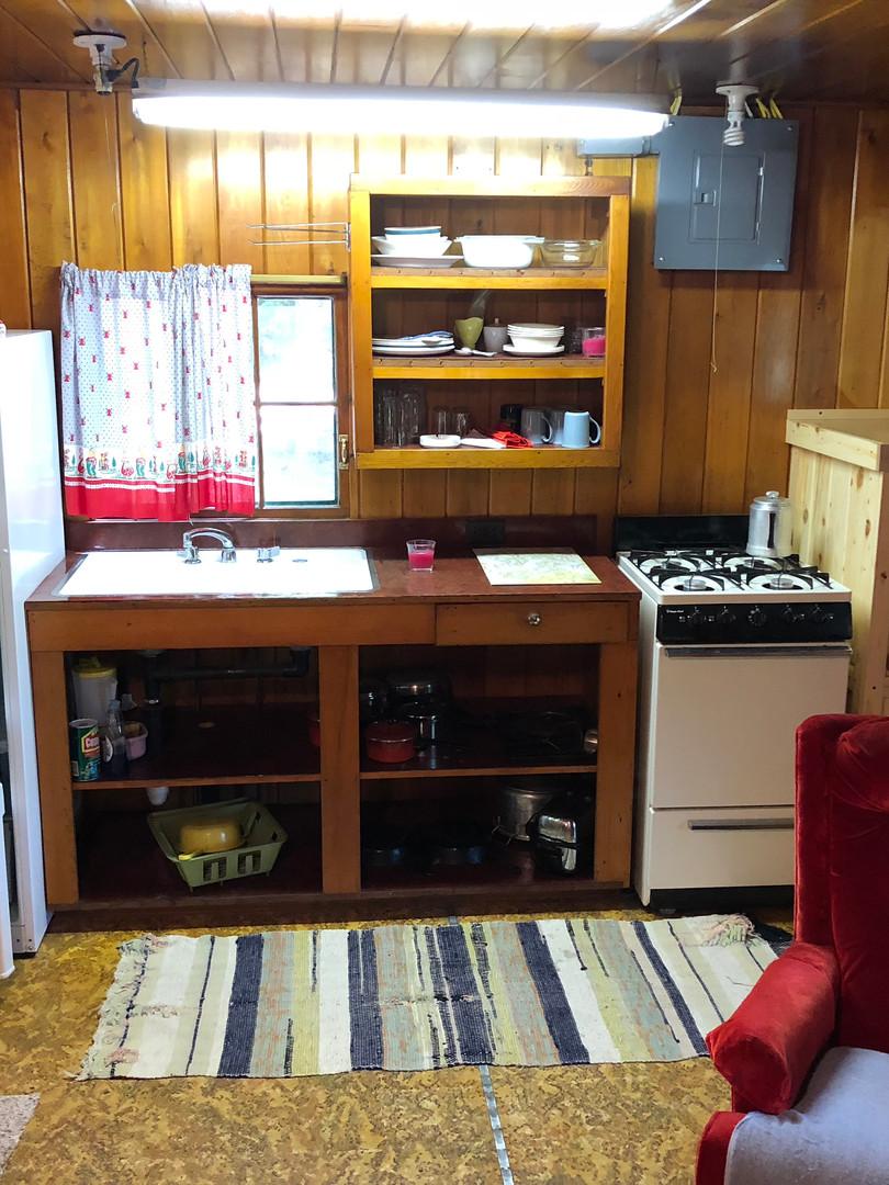 Cedar kitchen/sitting area