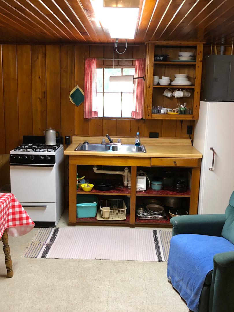 Maple kitchen area