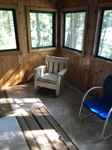 Spruce screened-in porch