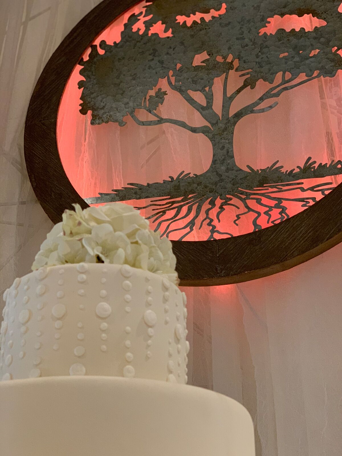cake and tree
