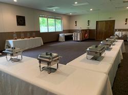 medium room banquet setup windows open