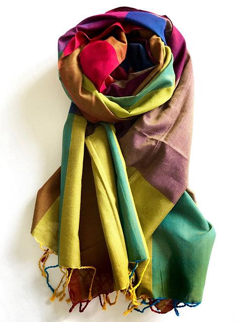 A multi-coloured scarf - 100% premium cotton