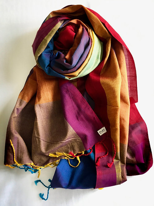 Multi-coloured scarf - 100% premium cotton