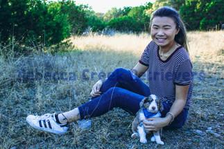 Opal (puppy) & Emily