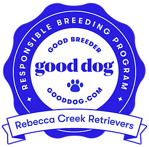 rebecca creek retrievers good dog breeder badge