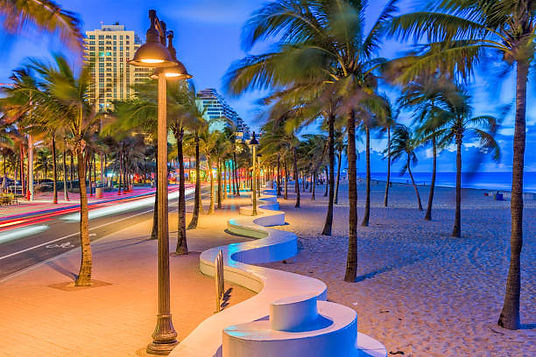 Fort Lauderdale FT Beach Strip Night Time