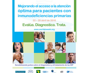 Semana Mundial de la Inmunodeficiencia Primaria (22-29 abril 2016)