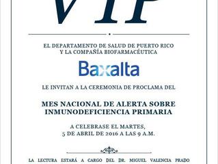 Invitación a la proclama del Dpto. de Salud de Puerto Rico