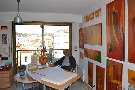 8_Armand Scholtès dans son atelier, Nic