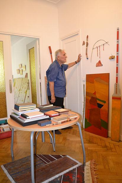 9_Armand Scholtès dans son atelier, Nic