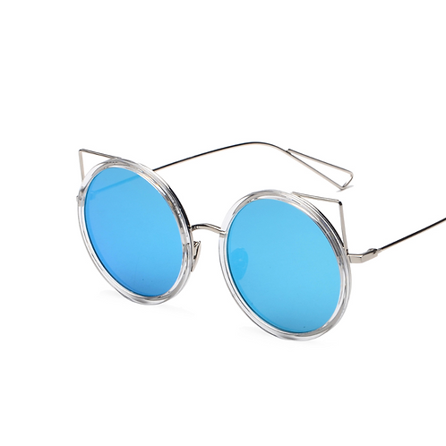 Round Cat Frame Sunglasses