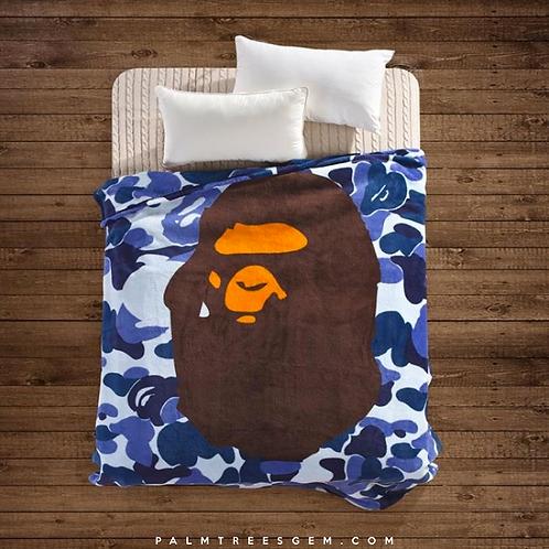 Blue Camo Bape Blanket