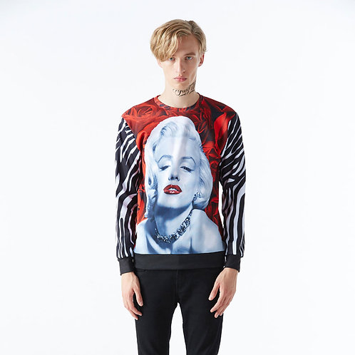 Marilyn Monroe Rose Sweatshirt