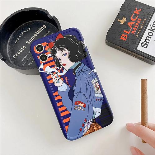 Retro Smoker iPhone Case