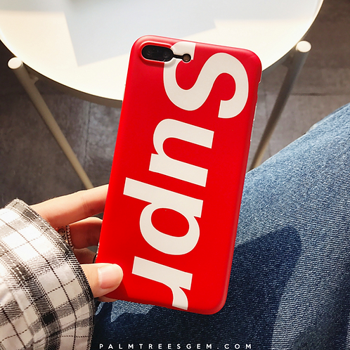 Solid Surpeme iPhone Case