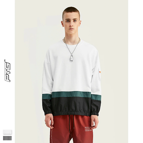 Wind Patchwork Sweatshirt