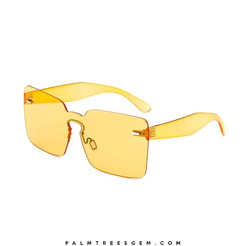 Wide Rimless Sunglasses