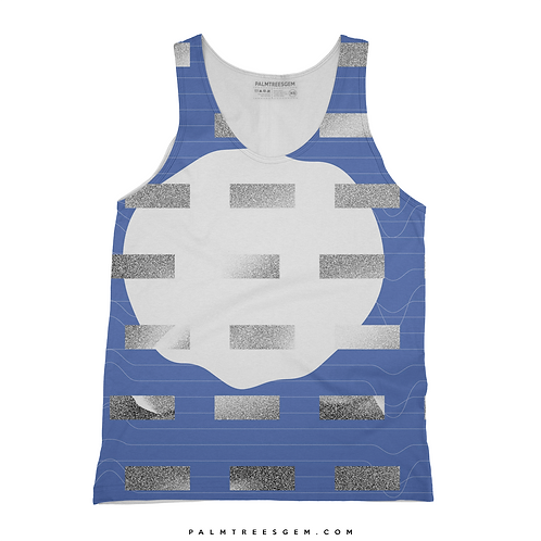 Blue Static Tank Top