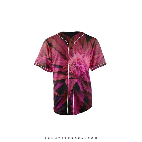 Pink Plant Baseball Jersey