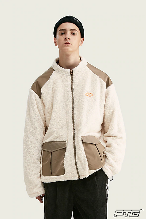 Patchwork Thick Fleece Jacket