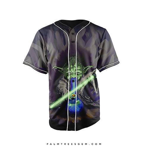 Yoda Bong Rip Baseball Jersey PalmTreesGem
