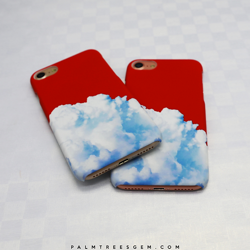 Red Clouded iPhone Case
