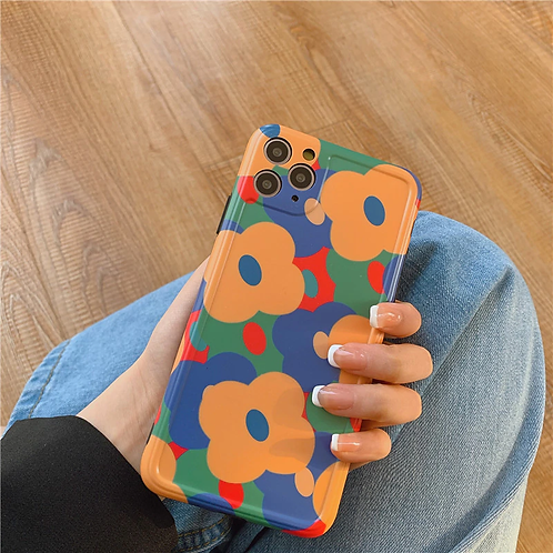 Soft Painted Flowers iPhone Case