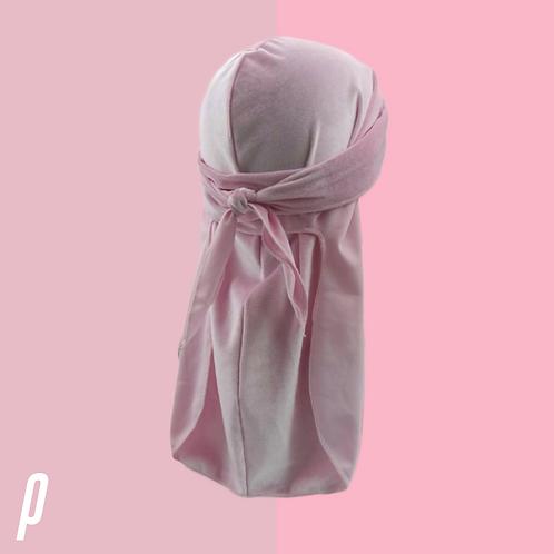 Soft Pink Velvet Durag
