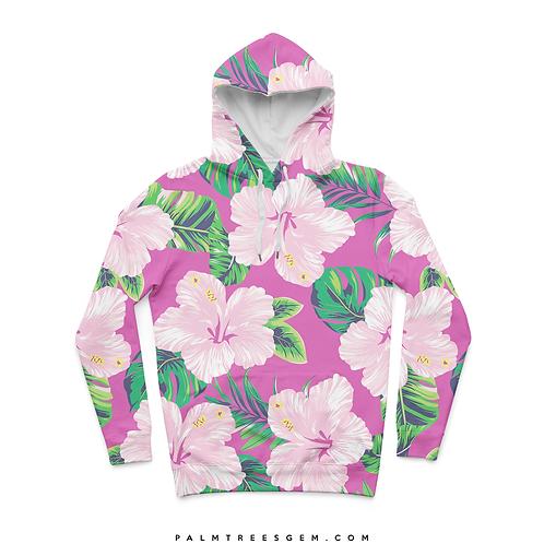 Pink Floral Hoodie