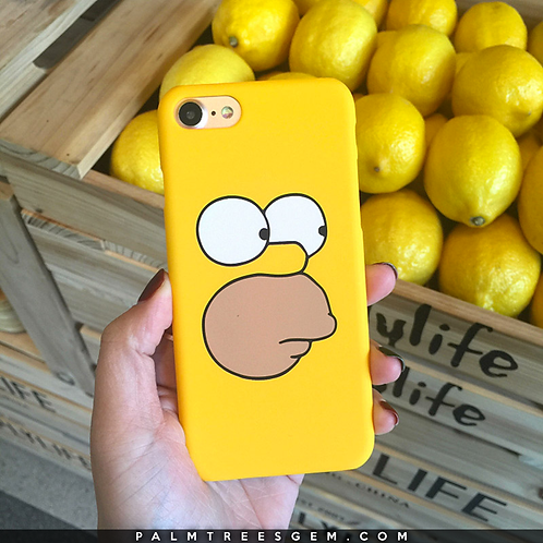 Homer Yellow iPhone Case