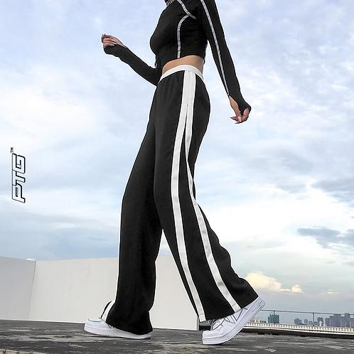 Double Stripe Flare Pants