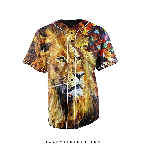 Lion Graphic Baseball Jersey