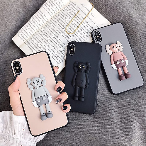 3D KAWS Character iPhone Case