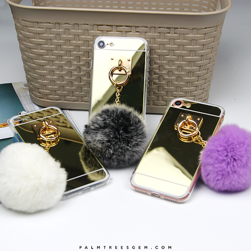 Mirror Fur Ball iPhone Case