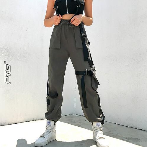 Designer Strap Cargo Pants